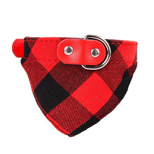 Load image into Gallery viewer, FREE PLUS SHIPPING!!!!! Plaid Dog Scarf Bandana Collar