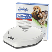 Load image into Gallery viewer, Pawise 5 Meal 5 Cell Automatic Pet Feeder