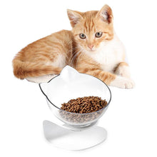 Load image into Gallery viewer, Pet Bowl Cat Ears Shaped Transparent Feeder