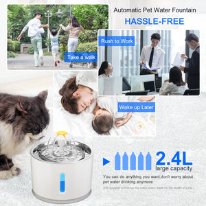 Automatic Pet Water Fountain Drinker Feeder