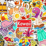 Stickers Kawaii Plage