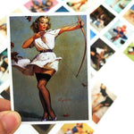 Stickers Pin Up Annees 50 pour fille