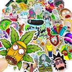 Stickers Rick et Morty pour skateboard