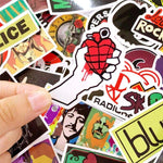 Stickers Rock pour cahier
