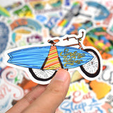 Stickers Surf pour velo