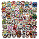Stickers Tete de Mort Mexicaine