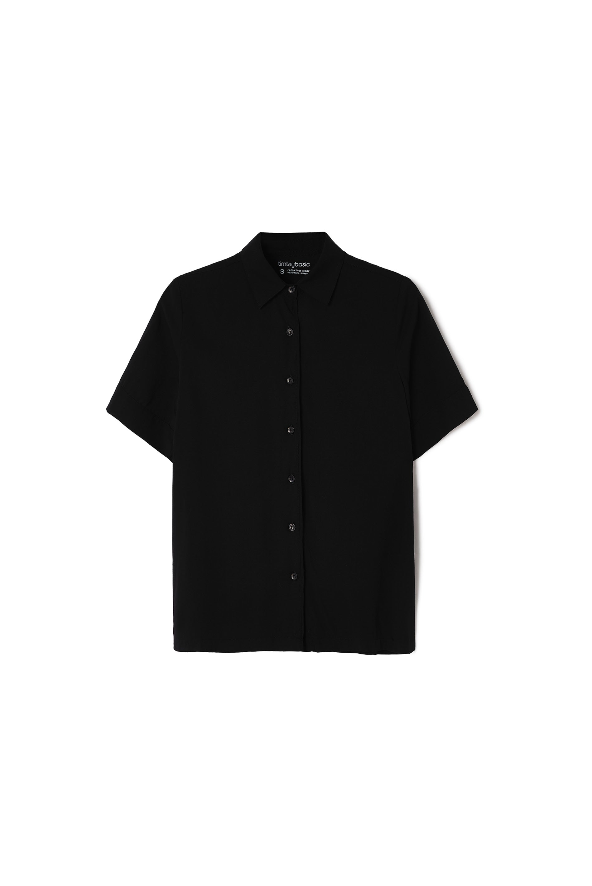 BS - W SHORT SLEEVES SHIRT BLACK