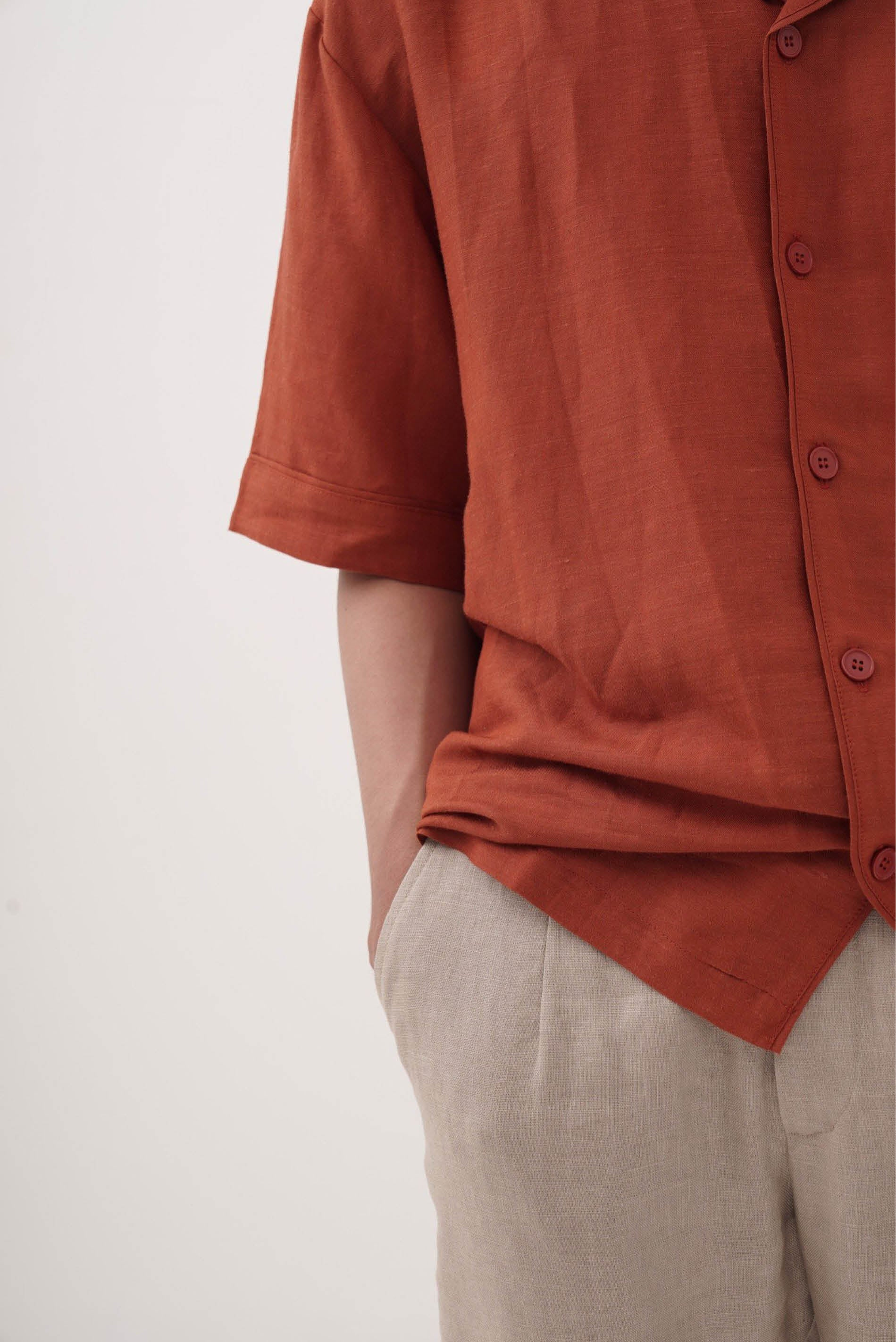 Saigonese Shirt Red