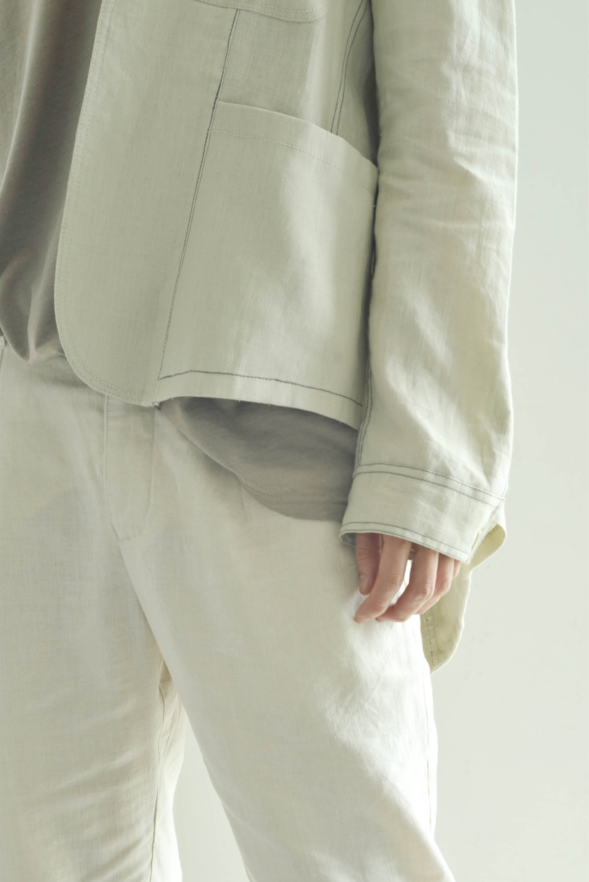 Patched-Pocket Blazer