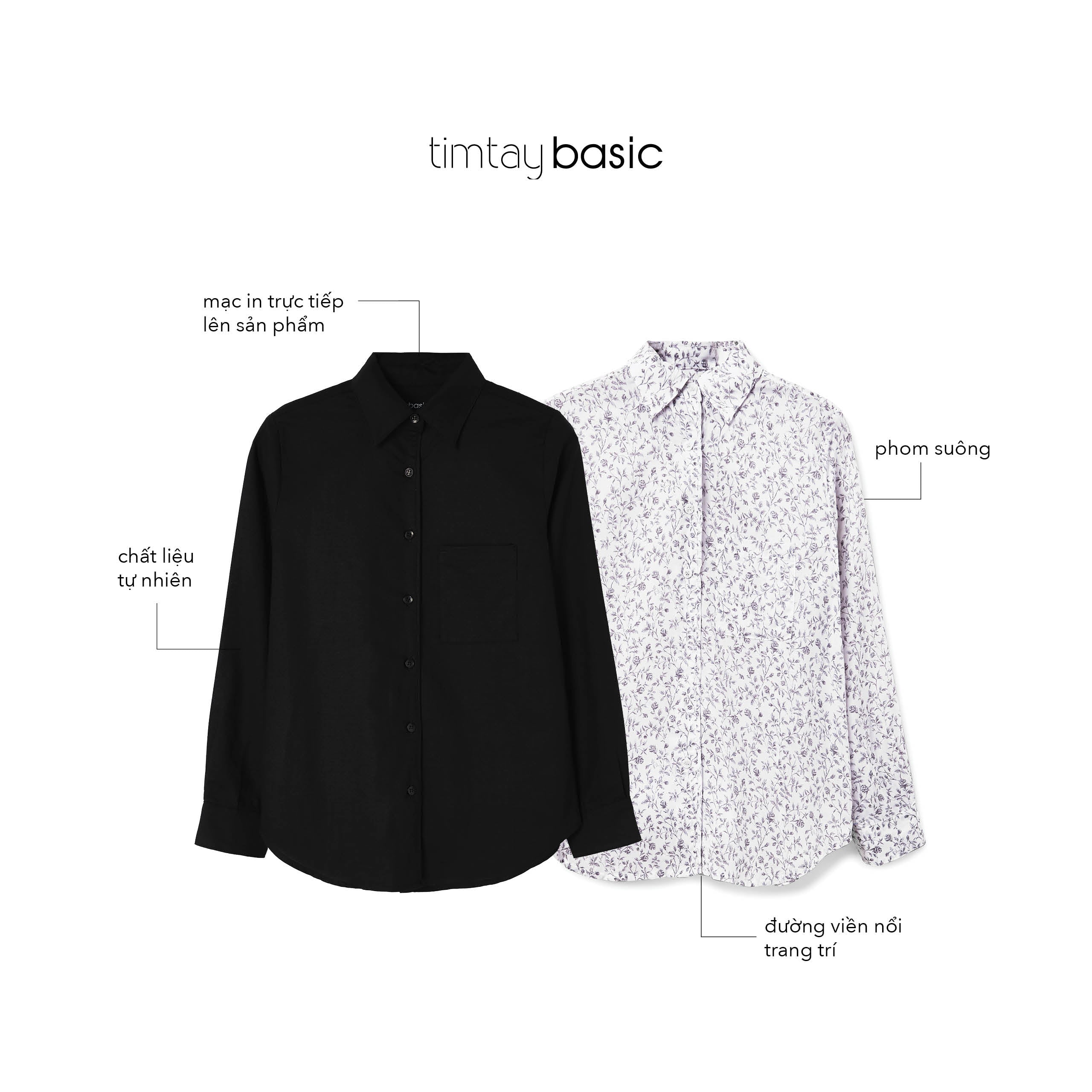 BS - W Long Sleeves Shirt Black