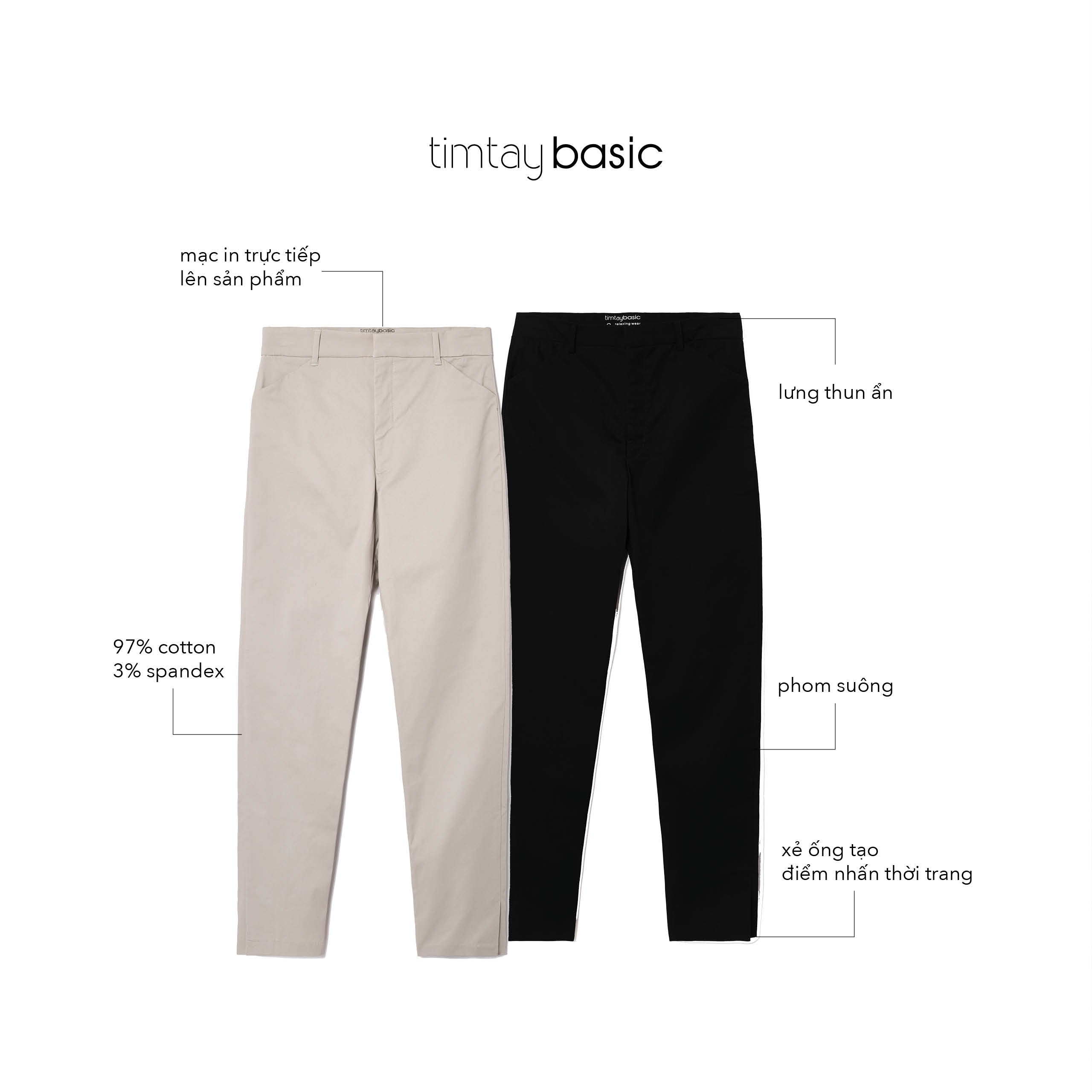 BS - W Pants Off-white