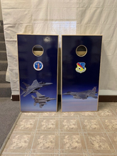 Load image into Gallery viewer, Custom Cornhole Set Full Vinyl Wrap