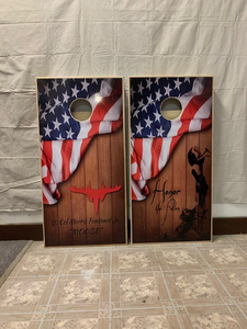 Custom Cornhole Set Full Vinyl Wrap
