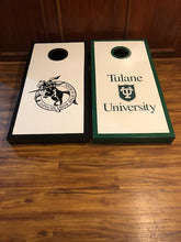 "Load image into Gallery viewer, Rick's ""High School to College"" Custom Cornhole Set"
