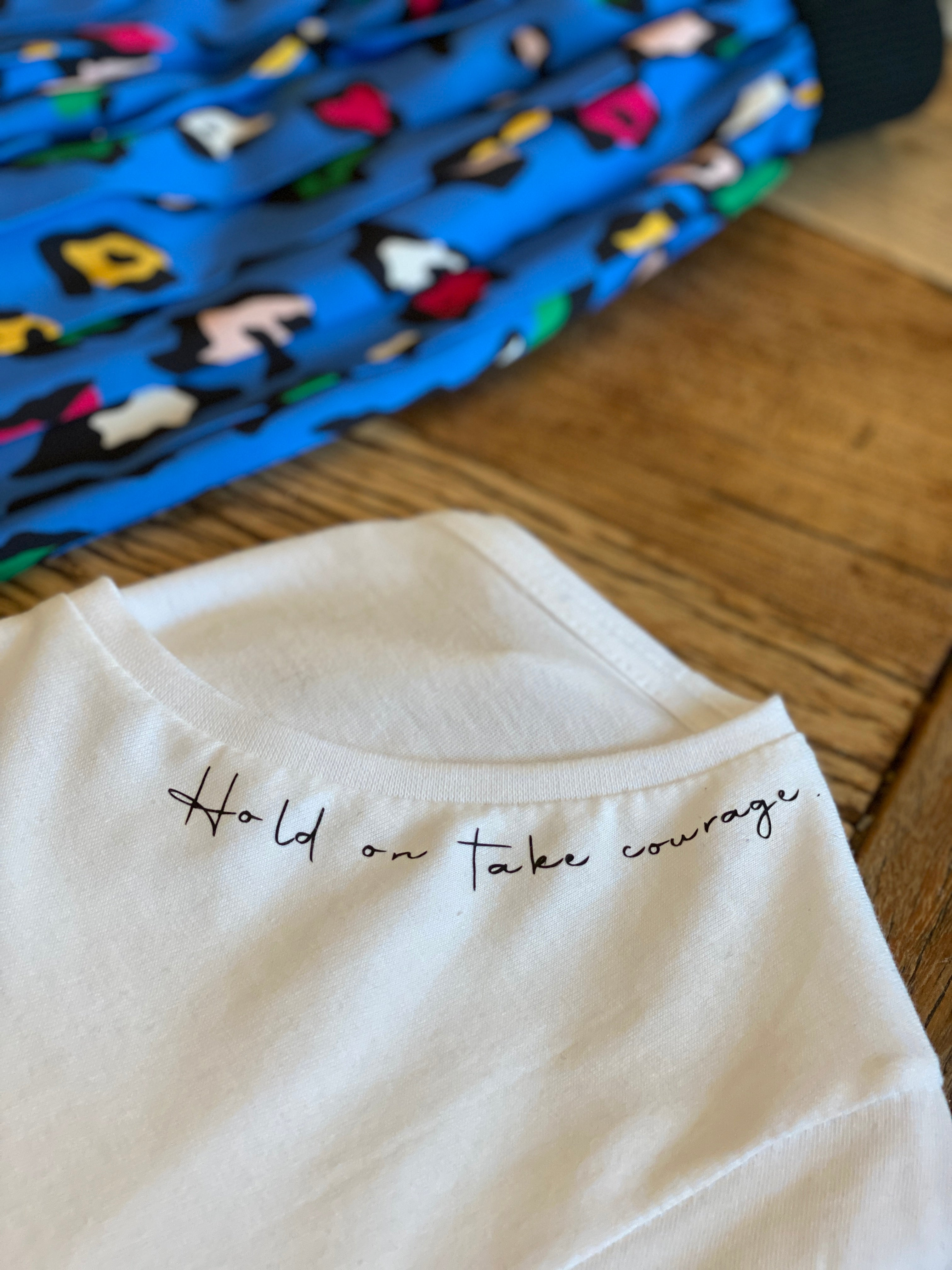 NFM hold on take courage tee