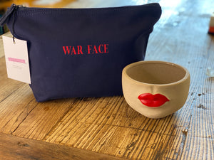 NFM war face & hold on take courage make- up bags