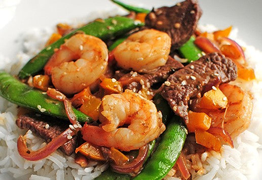 Teriyaki Steak and Shrimp