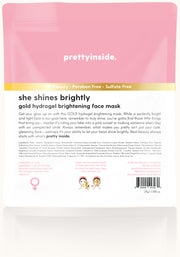 She Shines Brightly Hydrogel Face Mask