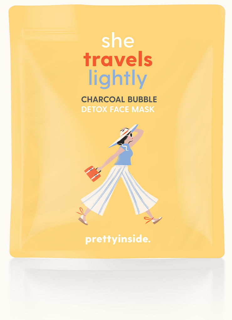 She Travels Lightly Charcoal Face Mask