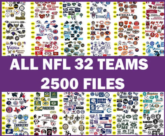 NFL TEAMS MEGA BUNDLE SVG