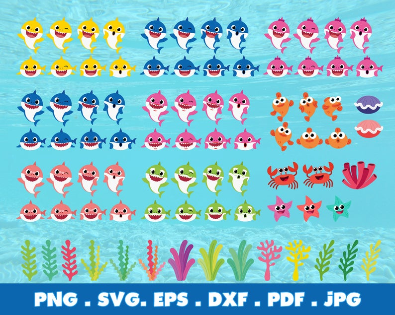400+ Baby Shark SVG Mega Bundle