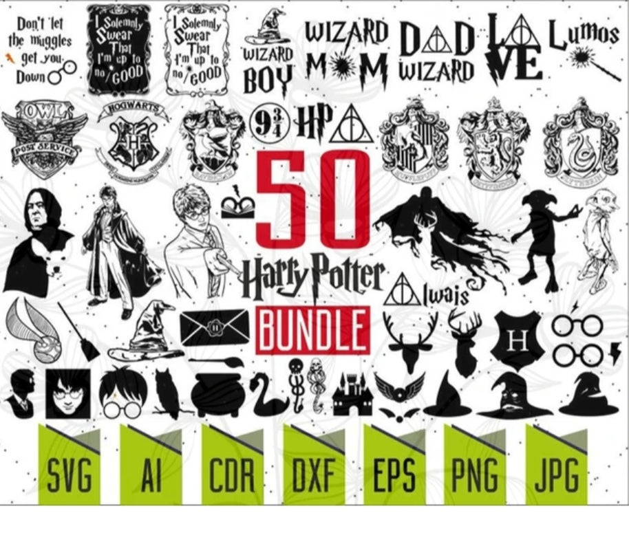 1000+ Harry Potter SVG BUNDLE,