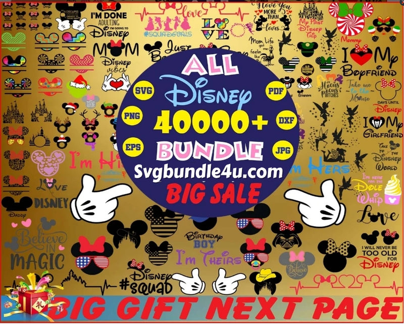 Mega Disney bundle svg Over 40K+ Svg Files