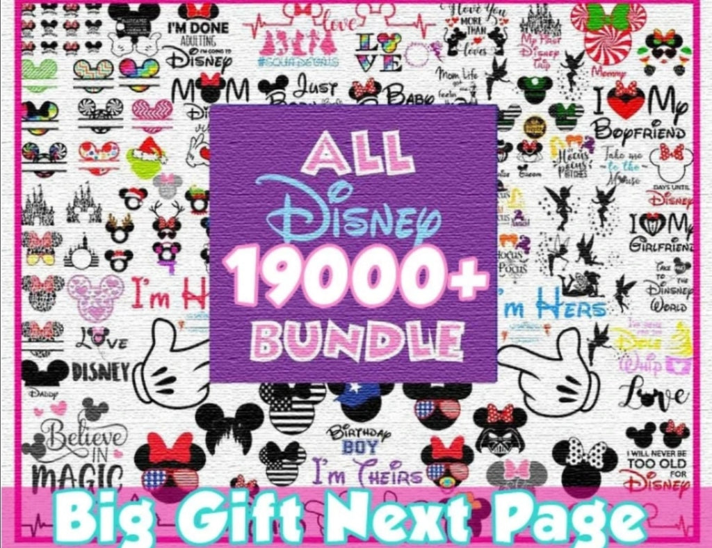 Mega Disney bundle svg Over 19K+ Svg Files