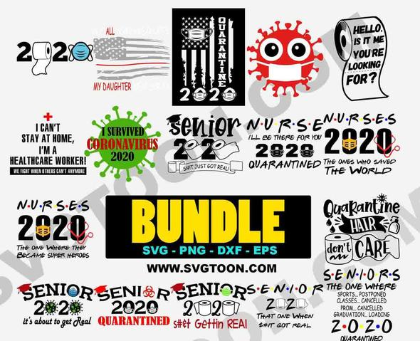SENIORS 2020 QUARANTINED BUNDLE SVG PNG DXF