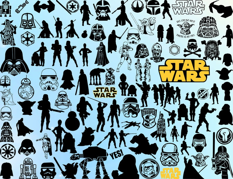 110 STAR WARS SVG DXF PNG