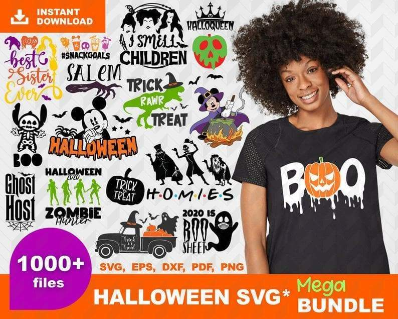 1000+ HALLOWEEN BUNDLE SVG, EPS, DXF, PNG