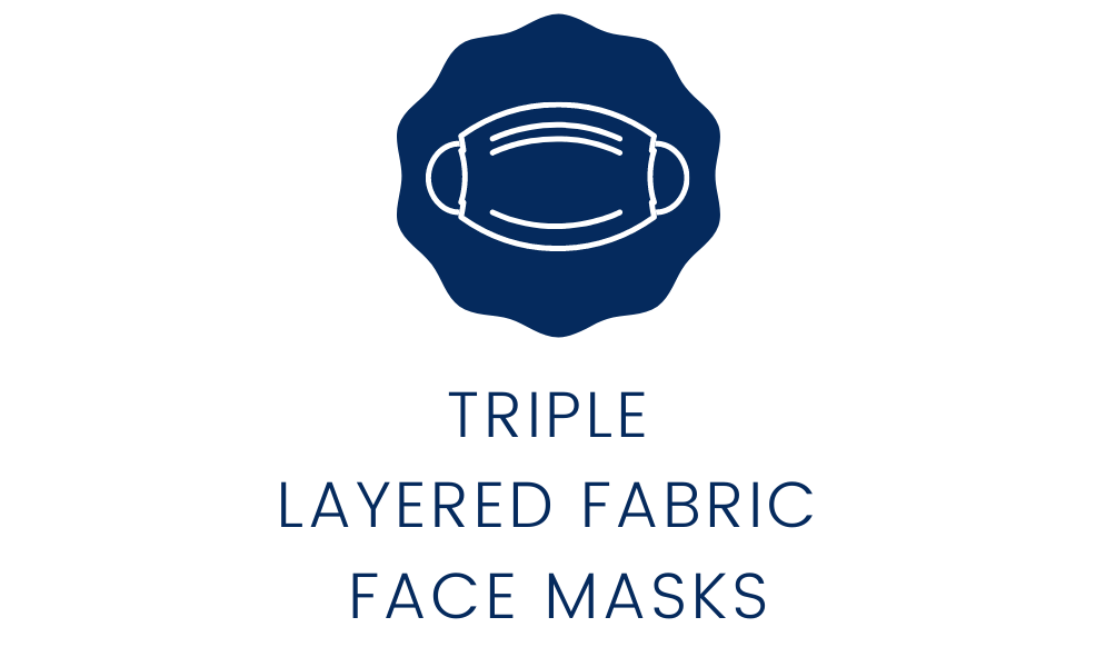 high quality triple layer face masks icon