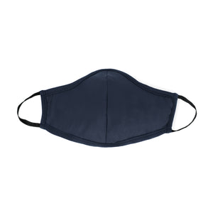 navy Masks for Change Active Collection Moisture Wicking Anti Microbial Triple Layer Fabric Reusable Washable Face Mask