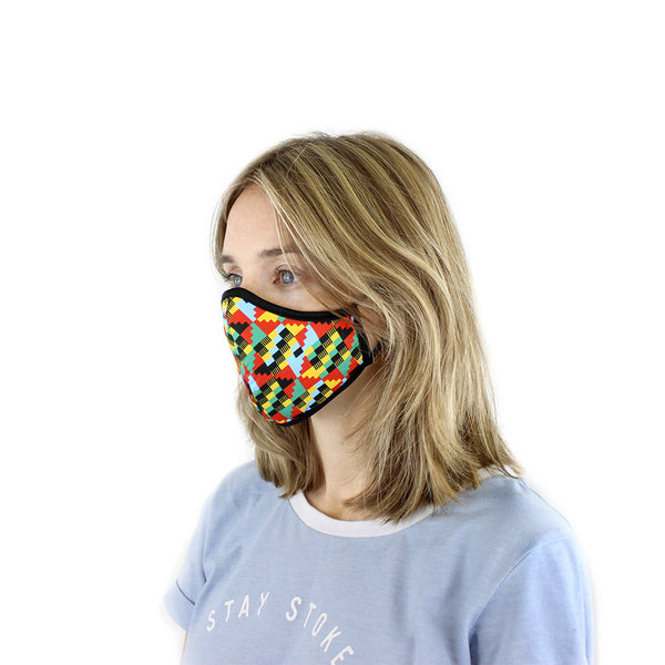 Kids aged 10+ and petite women: Small Active Collection Mask 3 Pack (Multi Print x 3)