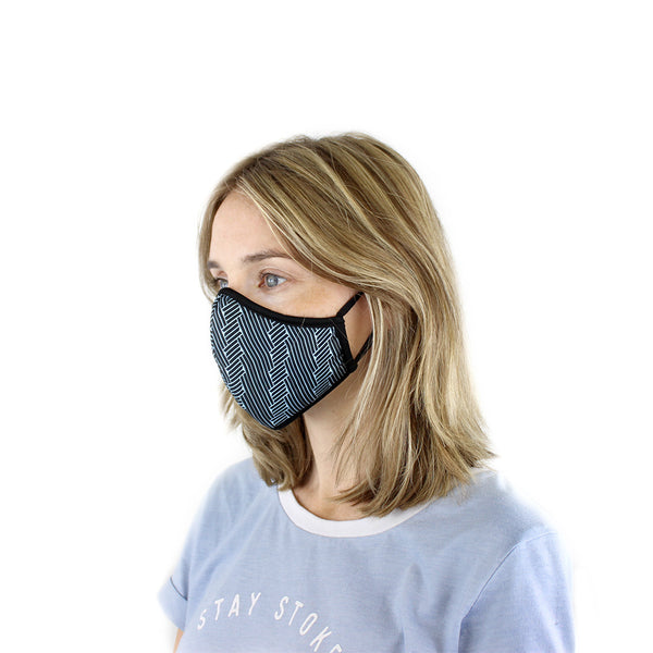 Masks for Change Active Collection Moisture Wicking Anti Microbial Triple Layer Fabric Reusable Washable Face Mask