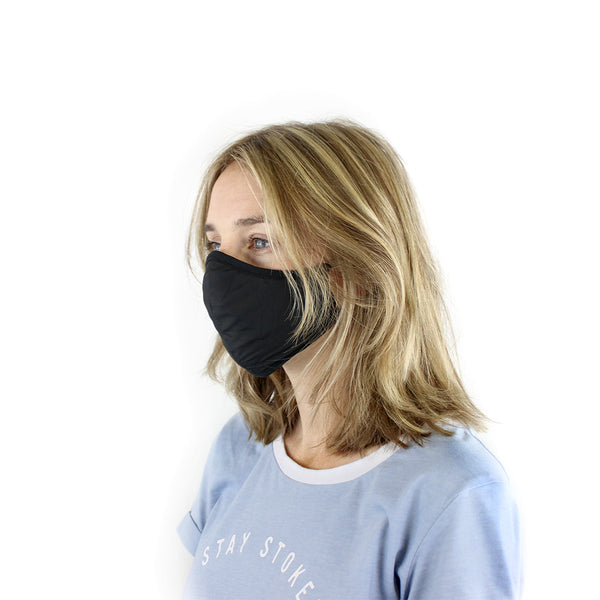 Masks for Change Moisture Resistant Triple Layers of Fabric lycra ties pocket filter light and breathable