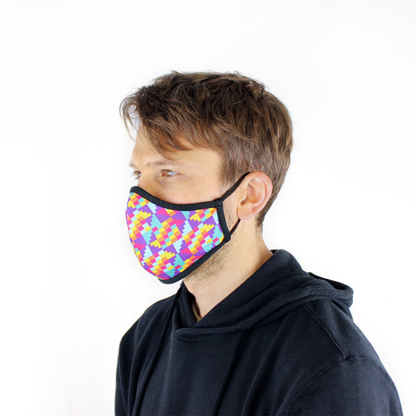 Masks for Change Active Collection Moisture Wicking Anti Microbial Triple Layer Fabric Reusable Washable Face Mask'