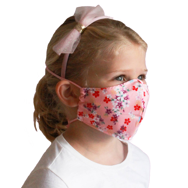Kids Collection Fabric Face Mask (Floral Pink) - Masks for Change