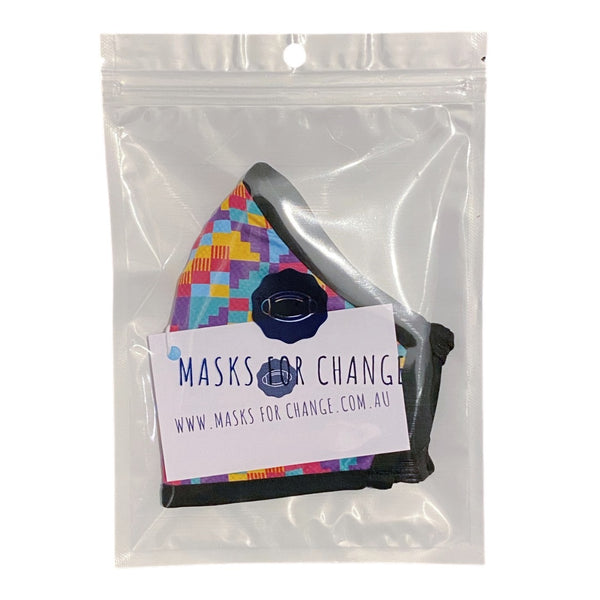 Active Collection Mask (Confetti Print)