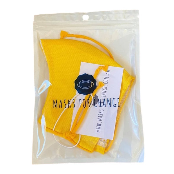 Resort Collection Fabric Face Mask (Sunshine Yellow)