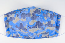 Load image into Gallery viewer, Face mask - size large (Blue camo)