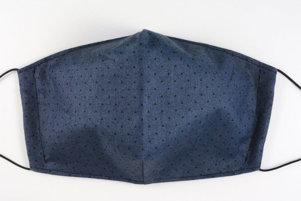 Face mask - size large (Denim triangles)