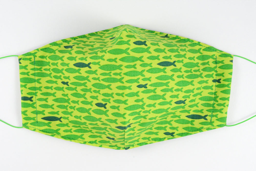 Face mask - size medium (Green fish)