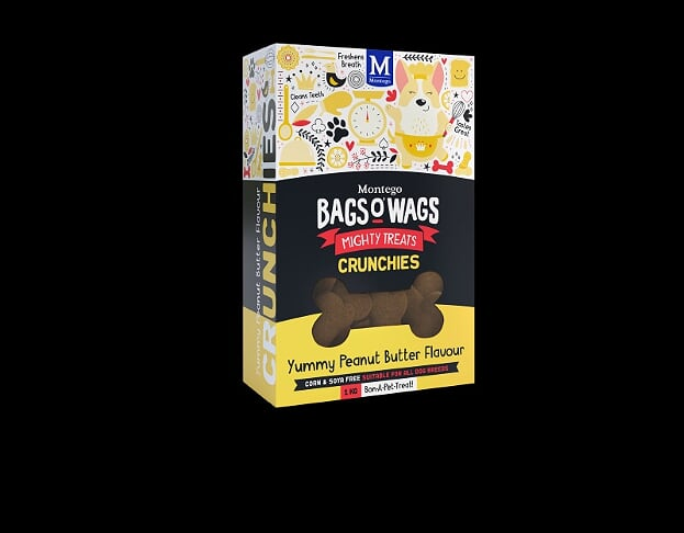 Montego Bags O' Wags Mighty Treats Crunchies