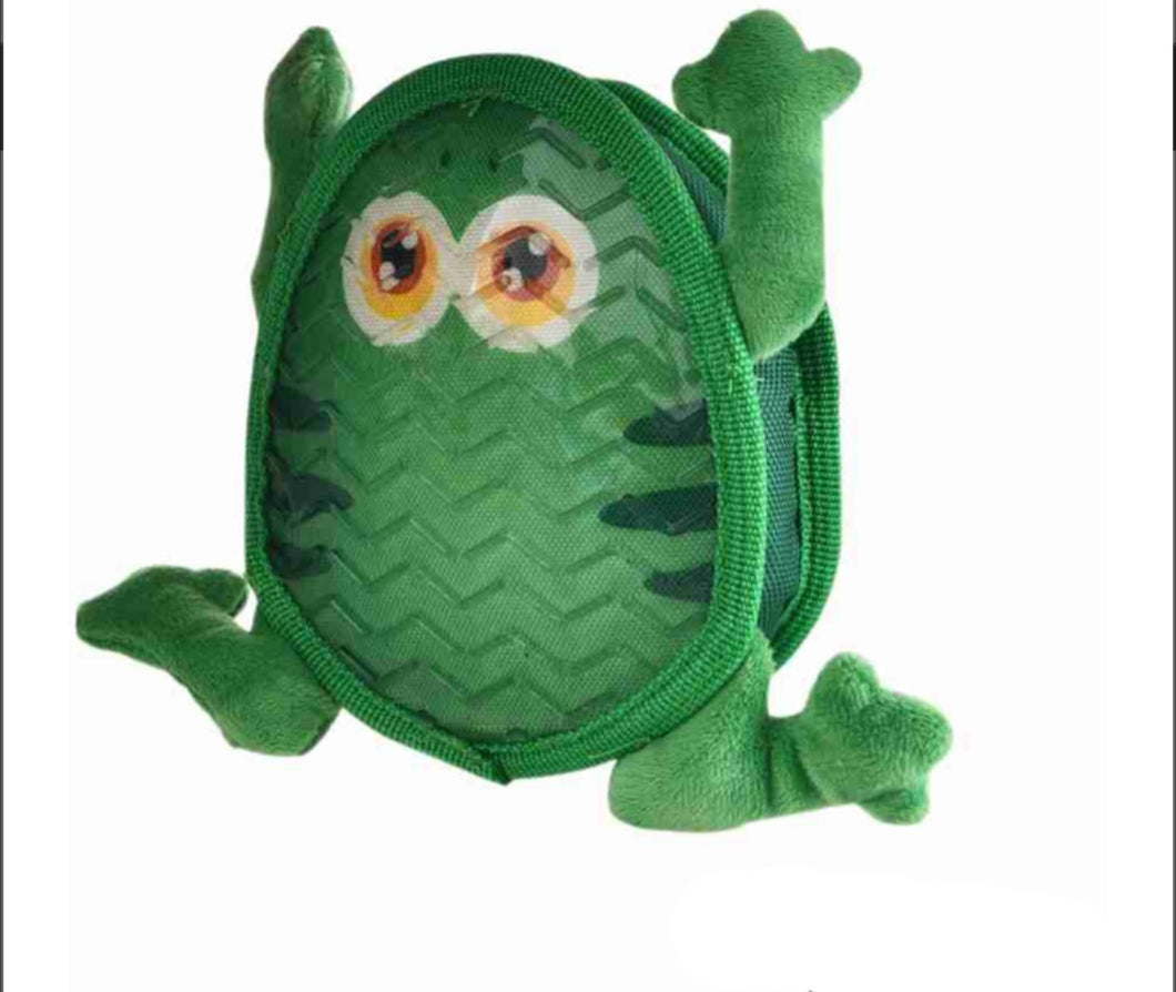 Squeaky Frog Plush Toy