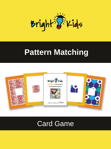 """Pattern Matching"" Card Game (Pre-K & Kindergarten)"