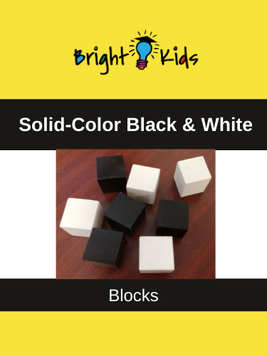 Solid Black & White ECAA Blocks (Pre-K & Kindergarten)