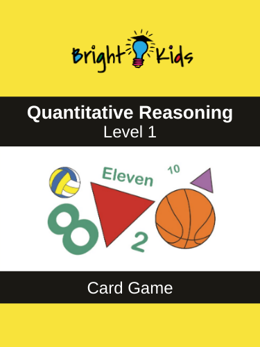 Quantitative Reasoning Card Game - Level 1 (Pre-K & Kindergarten)