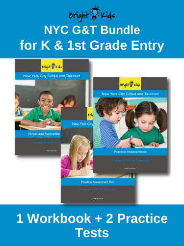 NYC G&T Bundle: NNAT & OLSAT Workbook + Practice Tests (K & 1st Grade Entry)