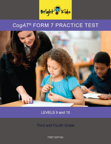 CogAT Form 7 Practice Test - Levels 9 & 10 (3rd & 4th Grade)